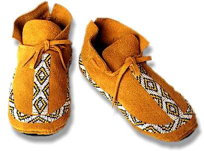 NATIVE AMERICAN INDIAN LEATHER BEADED MOCCASINS PATTERN | eBay